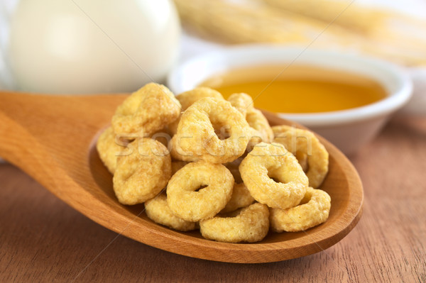 Honey Flavoured Cereal Loops Stock photo © ildi