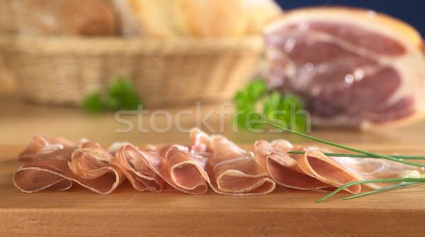 Thin Ham Slices Stock photo © ildi