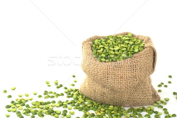 Split Dried Green Peas in Sack Stock photo © ildi