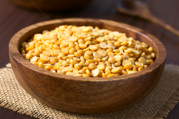 Raw Yellow Split Peas Stock photo © ildi