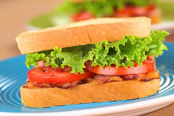 ストックフォト: Blt · サンドイッチ · 新鮮な · 自家製 · ベーコン · レタス