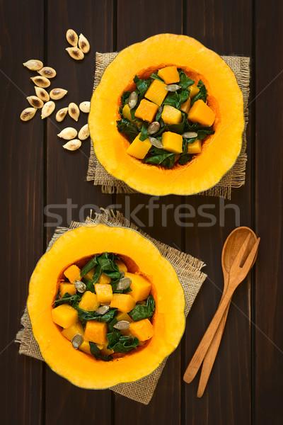 カボチャ サラダ 種子 務め 暗い ストックフォト © ildi