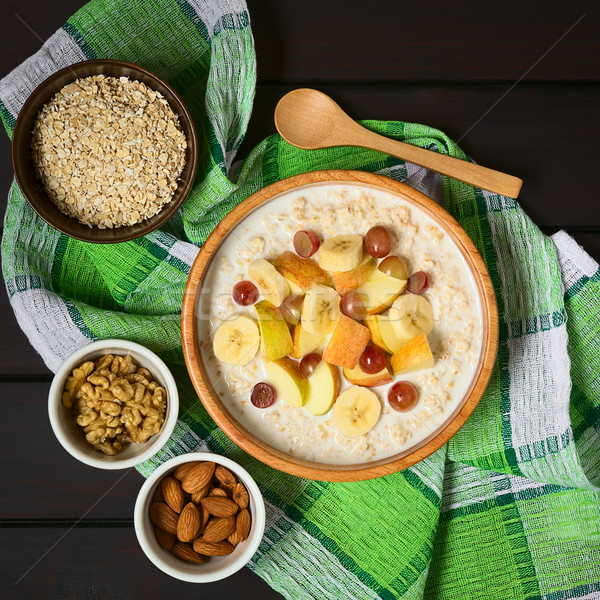 Oatmeal Porridge with Fresh Fruits Stock photo © ildi