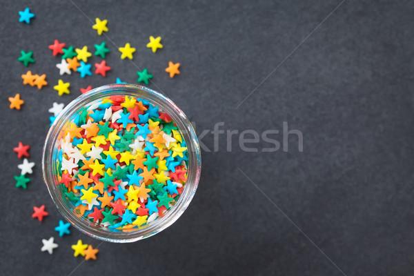 Colorful Star Shaped Sugar Sprinkles Stock photo © ildi