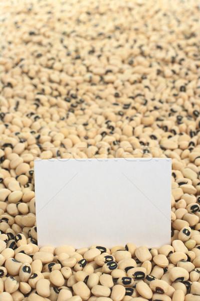 Bezelye boş kart seçici odak odak kart Stok fotoğraf © ildi