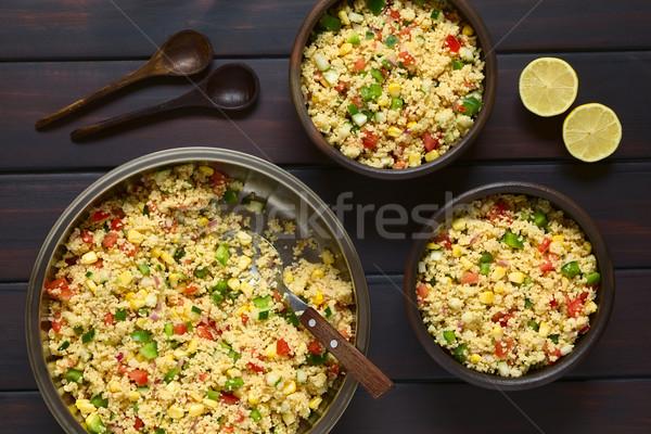 Vegetali couscous insalata vegetariano pomodoro Foto d'archivio © ildi