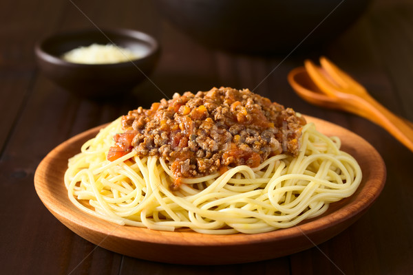 Spaghetti Bolognese Stock photo © ildi