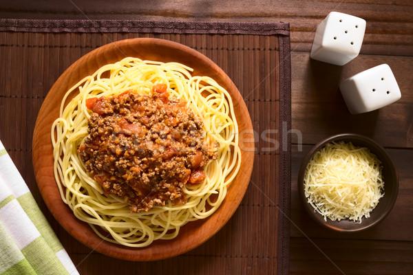 Spaghetti Bolognese Stock photo © ildi