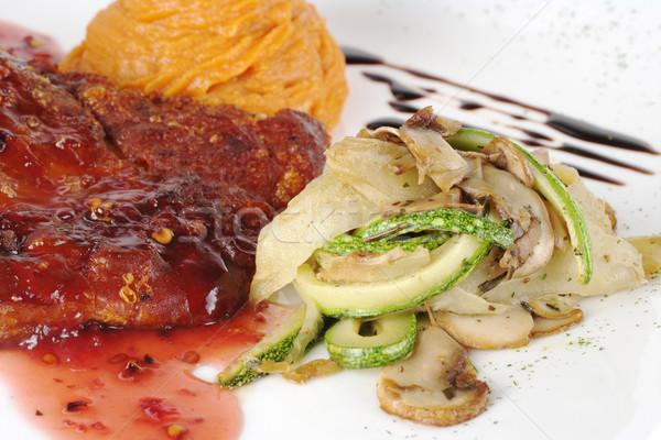 Verdura patata dolce costola rosso salsa Foto d'archivio © ildi