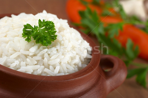 Cooked Rice with Parsley Stock photo © ildi