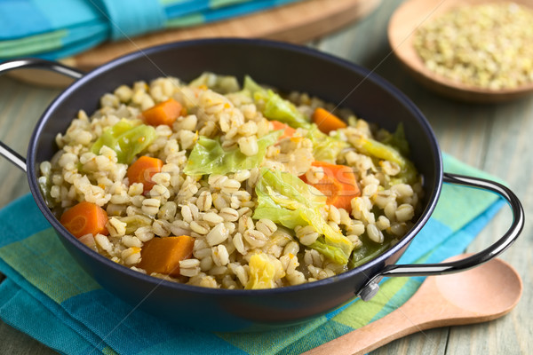 Wheat and Savoy Cabbage Stew Stock photo © ildi
