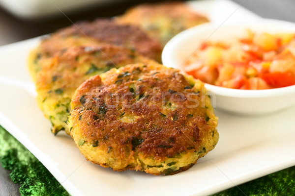 Zucchini, Couscous and Parsley Fritter Stock photo © ildi