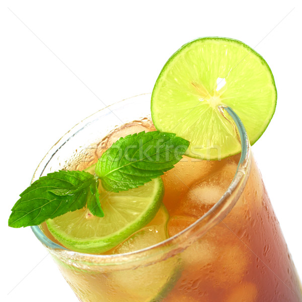 Mint Leaf and Lime on Iced Tea Stock photo © ildi