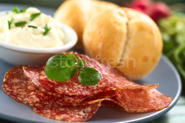 Salami Slices Stock photo © ildi