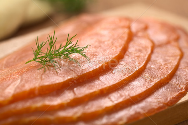 Smoked Salmon with Dill Stock photo © ildi