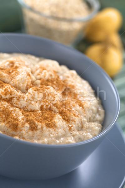 Maca-Oatmeal Porridge with Cinnamon Stock photo © ildi