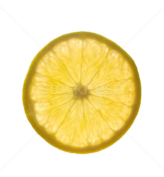 Rodaja de naranja detallado retroiluminación macro textura cruz Foto stock © ildi
