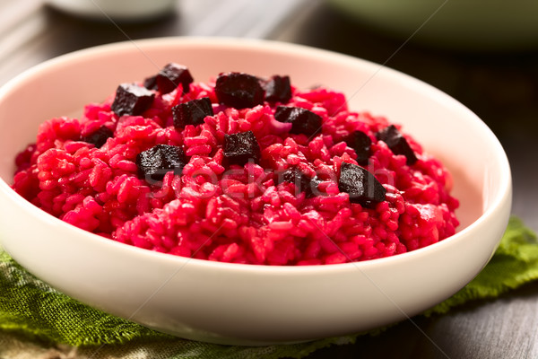 Remolacha risotto preparado piezas superior Foto stock © ildi
