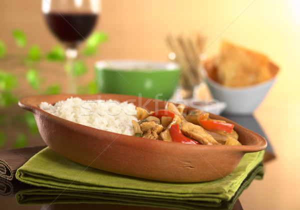 Stock photo: Peruvian Food Called Lomo Saltado