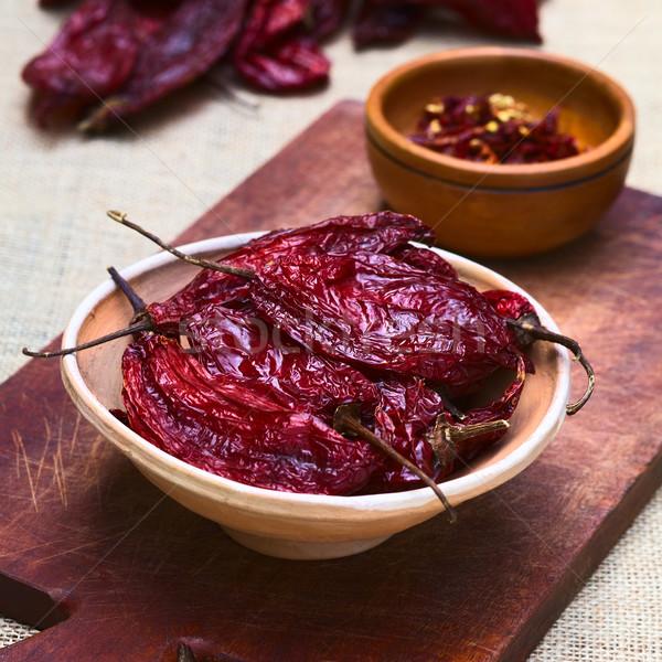 Dried Red Aji Chili Pepper Stock photo © ildi