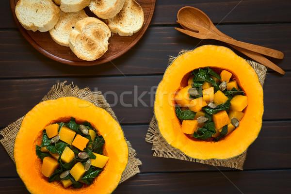 カボチャ サラダ 種子 務め 焼いた ストックフォト © ildi