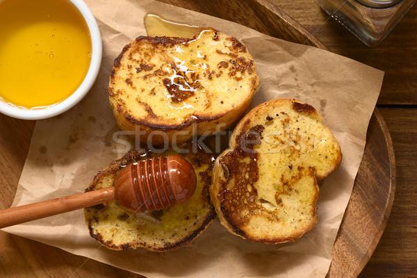 French Toast with Honey Stock photo © ildi