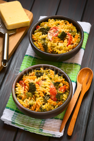 Baked Pasta and Vegetable Casserole Stock photo © ildi