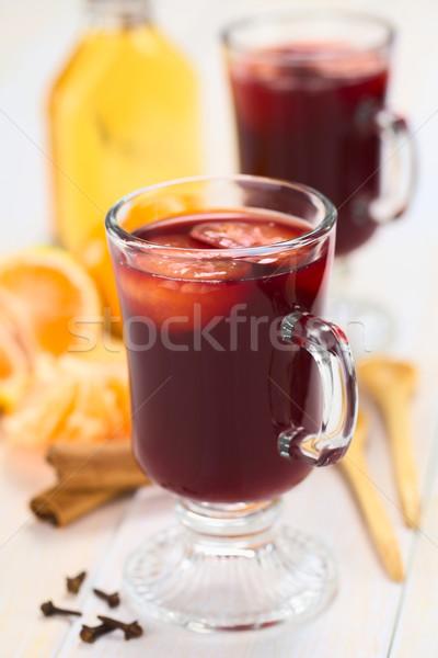Hot Mulled Wine with Mandarin Stock photo © ildi