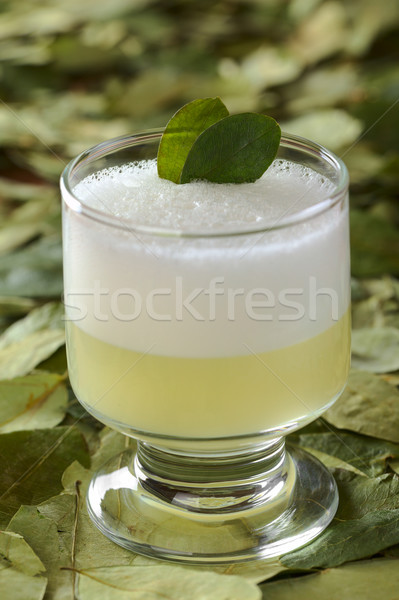Stock photo: Peruvian Cocktail Called Coca Sour