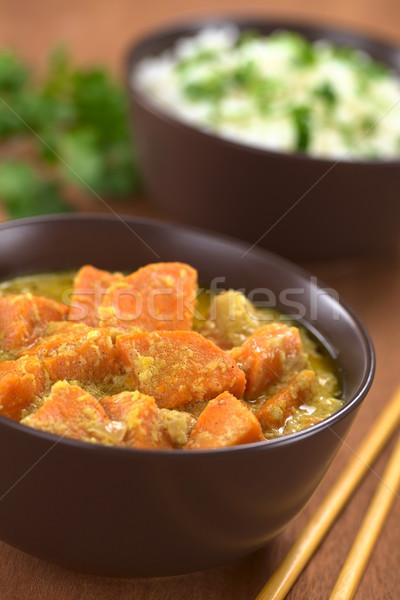 Patata dolce cocco strigliare ciotola vegetariano cotto Foto d'archivio © ildi