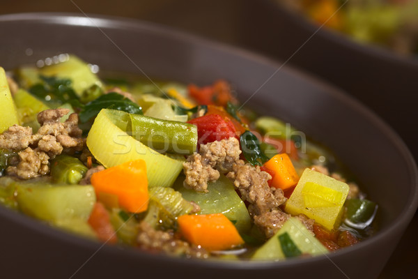 Vegetable Soup with Mincemeat Stock photo © ildi
