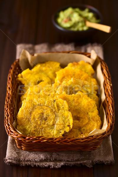 Patacon Fried Plantain Slices Stock photo © ildi