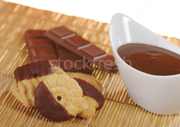 Butter Cookies with Chocolate Dip Stock photo © ildi