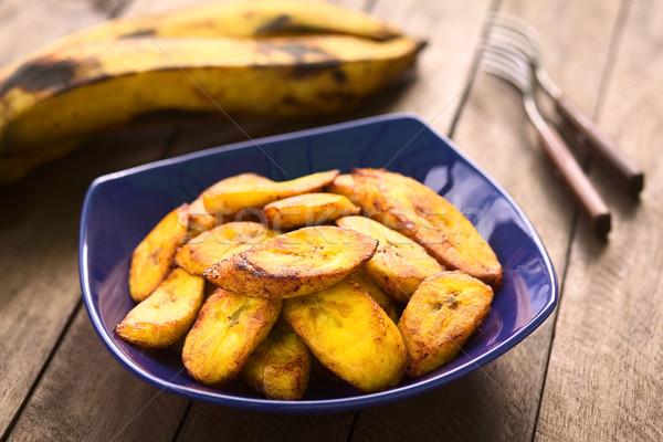 Fried Plantain Slices Stock photo © ildi