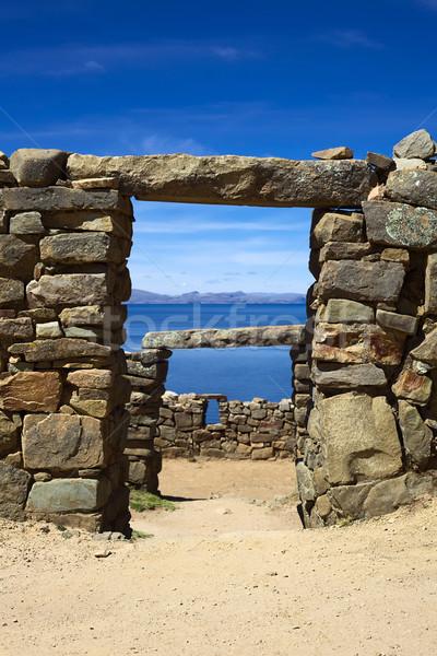 Chinkana Archeological Site on Isla del Sol in Bolivia Stock photo © ildi