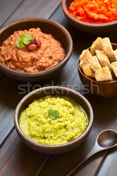 Foto stock: Vegetal · rústico · tigela · caseiro · abobrinha · salsa