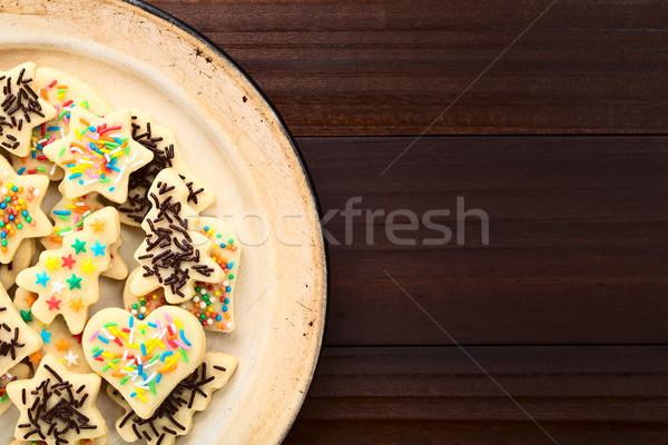 Renkli Noel şeker kurabiye ev yapımı Stok fotoğraf © ildi