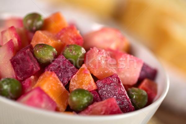 Russo raiz de beterraba salada batata cenoura maionese Foto stock © ildi