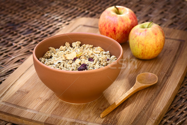 Oatmeal Granola with Apple, Almond and Cranberry Stock photo © ildi