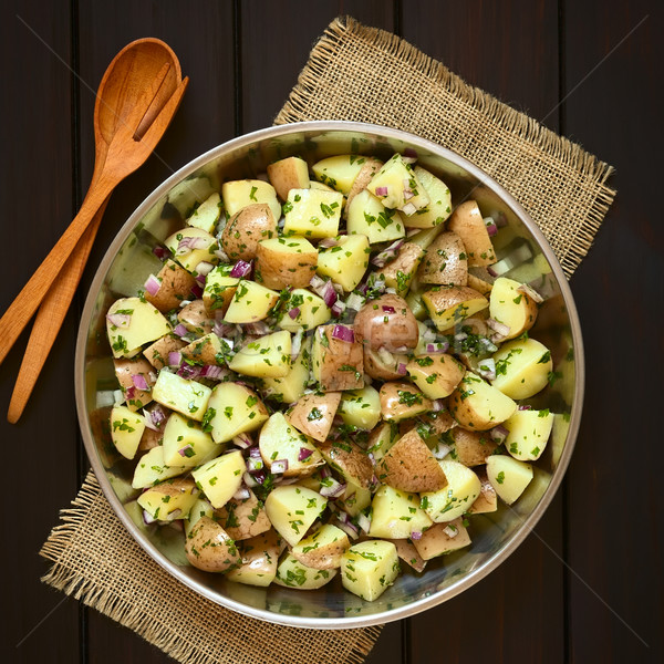 Potato Salad with Onion and Herbs Stock photo © ildi