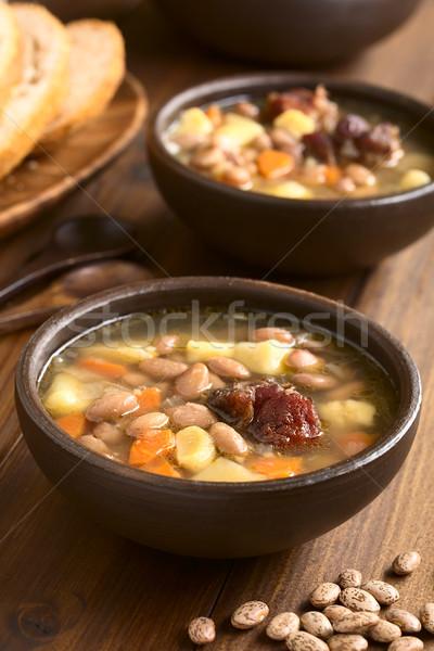 Húngaro sopa de feijão tradicional feijão sopa feijões Foto stock © ildi