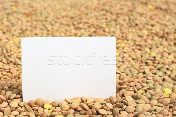 Kurutulmuş boş kart objektif seçici odak Stok fotoğraf © ildi