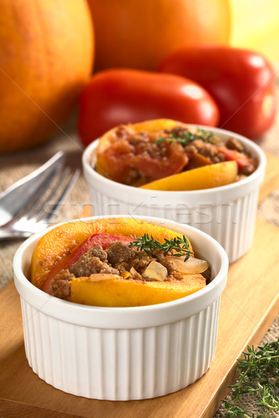 Pumpkin, Tomato, Mincemeat Dish Stock photo © ildi