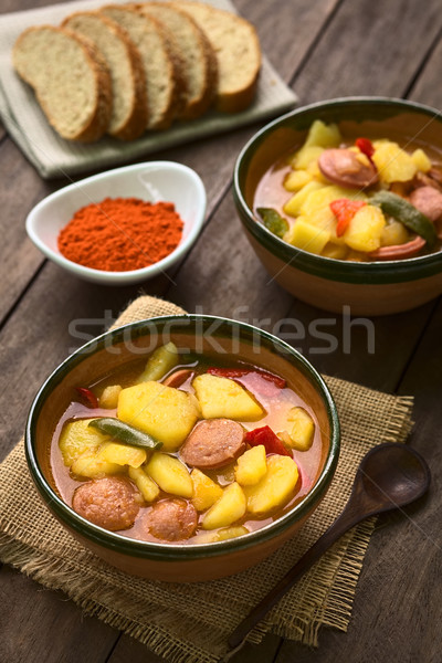 Hungarian Paprikas Krumpli (Potato with Paprika) Stock photo © ildi