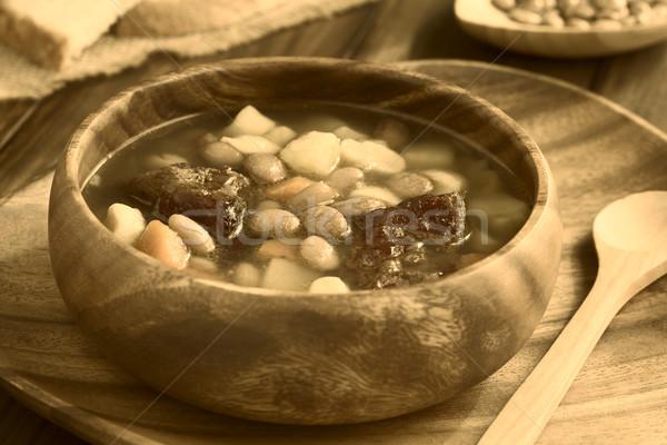 Húngaro sopa de frijol tradicional frijol sopa frijoles Foto stock © ildi