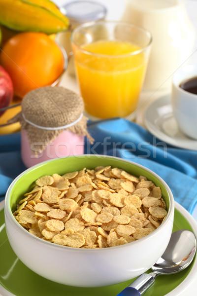 ヨーグルト コーヒー オレンジジュース 新鮮な 果物 ストックフォト © ildi