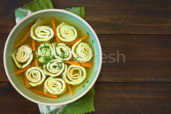 Palacsinta leves hagyományos tekercsek csíkok crepe Stock fotó © ildi