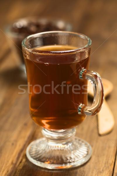 Hot cacao thee vers warme chocolademelk kruidenthee Stockfoto © ildi
