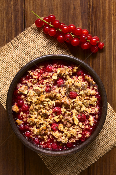 Redcurrant Crumble Stock photo © ildi