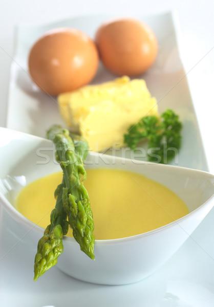 Asparagus with Hollandaise Sauce Stock photo © ildi